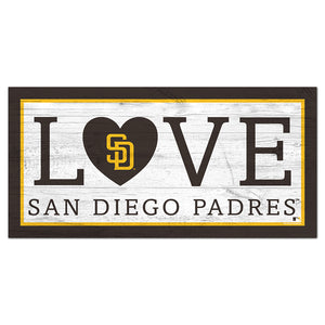 San Diego Padres Love 6x12 Sign