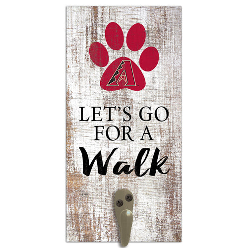 Arizona Diamondbacks Leash Holder 6x12 Sign