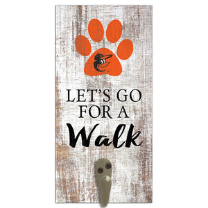 Baltimore Orioles Leash Holder 6x12 Sign