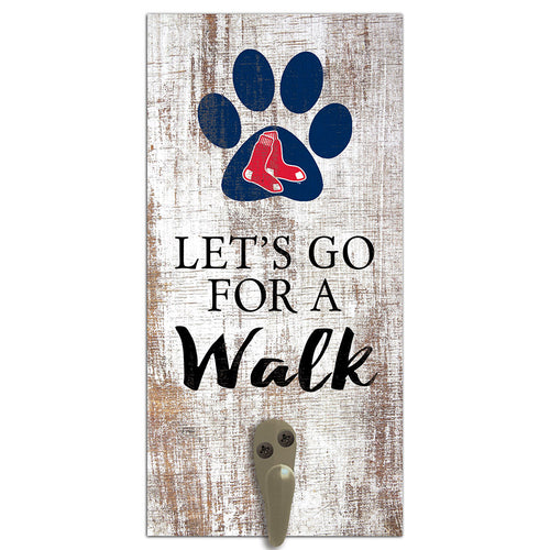 Boston Red Sox Leash Holder 6x12 Sign