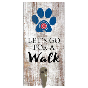 Chicago Cubs Leash Holder 6x12 Sign
