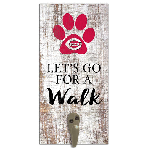 Cincinnati Reds Leash Holder 6x12 Sign