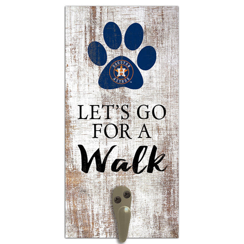 Houston Astros Leash Holder 6x12 Sign