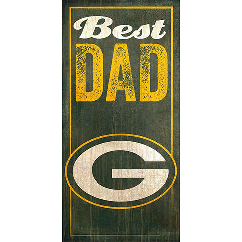 Green Bay Packers Best Dad Sign