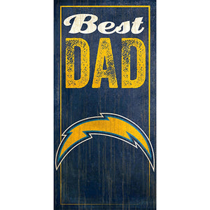 Los Angeles Chargers Best Dad Sign