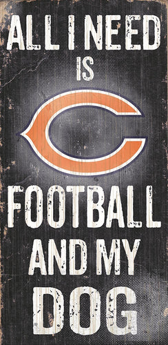 Chicago Bears Football and My Dog Sign