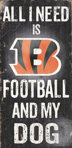 Cincinnati Bengals Football and My Dog Sign