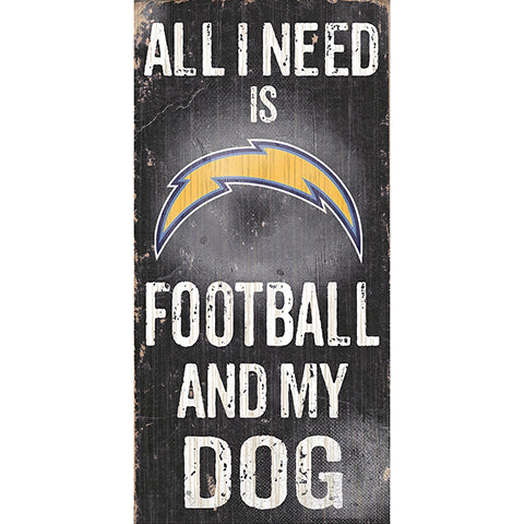 Los Angeles Chargers Football and My Dog Sign