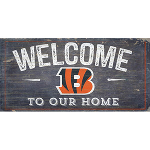 Cincinnati Bengals Welcome Distressed 6 x 12