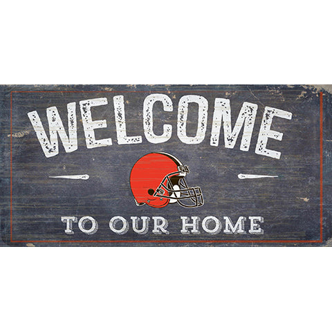 Cleveland Browns Welcome Distressed 6 x 12