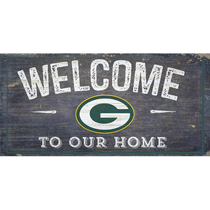 Green Bay Packers Welcome Distressed 6 x 12