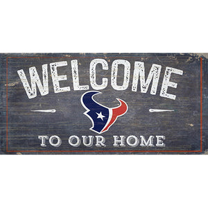 Houston Texans Welcome Distressed 6 x 12