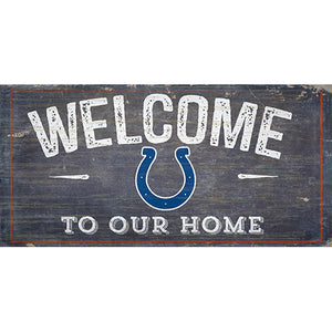 Indianapolis Colts Welcome Distressed 6 x 12