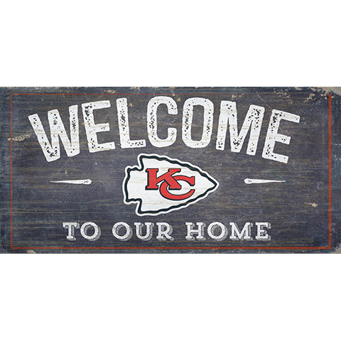 Kansas City Chiefs Welcome Distressed 6 x 12