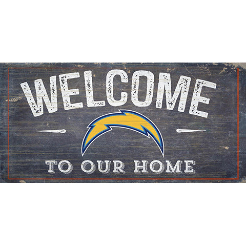 Los Angeles Chargers Welcome Distressed 6 x 12