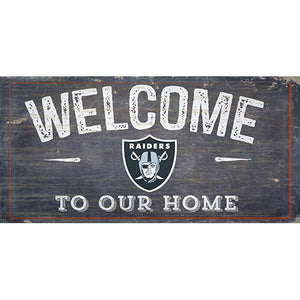 Oakland Raiders Welcome Distressed 6 x 12