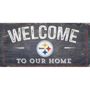 Pittsburgh Steelers Welcome Distressed 6 x 12