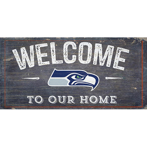 Seattle Seahawks Welcome Distressed 6 x 12