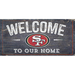 San Francisco 49ers Welcome Distressed 6 x 12