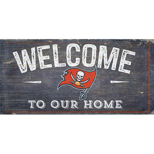 Tampa Bay Buccaneers Welcome Distressed 6 x 12