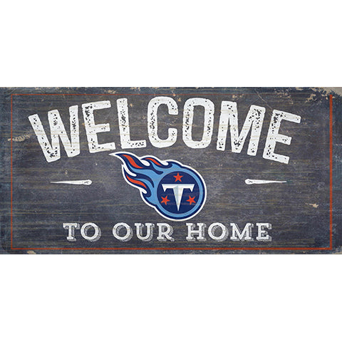 Tennessee Titans Welcome Distressed 6 x 12