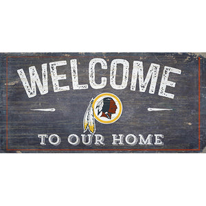 Washington Redskins Welcome Distressed 6 x 12