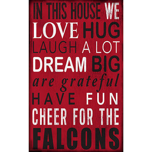 Atlanta Falcons In This House Sign