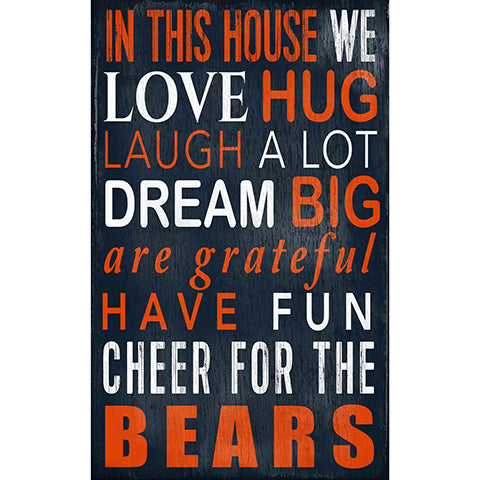Chicago Bears In This House Sign