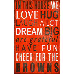 Cleveland Browns In This House Sign