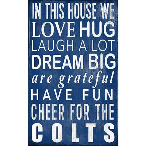 Indianapolis Colts In This House Sign