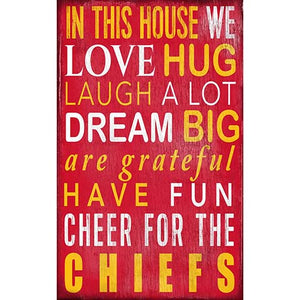 Kansas City Chiefs In This House Sign