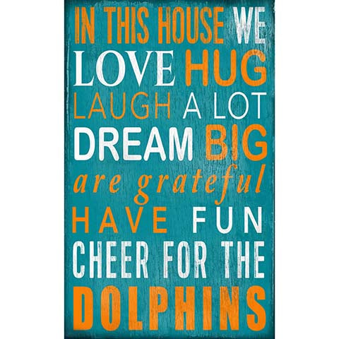 Miami Dolphins In This House Sign