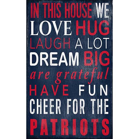 New England Patriots In This House Sign