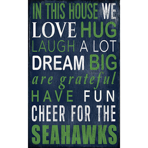 Seattle Seahawks In This House Sign
