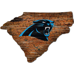 Carolina Panthers Distressed State with Logo