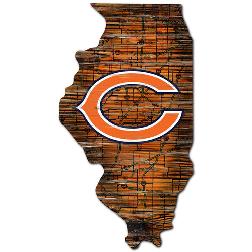 Chicago Bears Distressed State with Logo