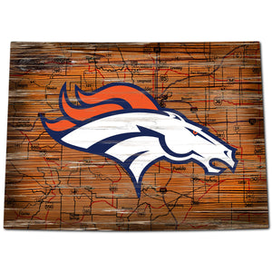 Denver Broncos Distressed State with Logo