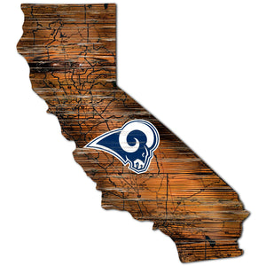 Los Angeles Rams Distressed State with Logo
