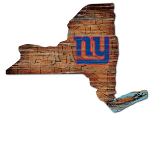 New York Giants Distressed State with Logo