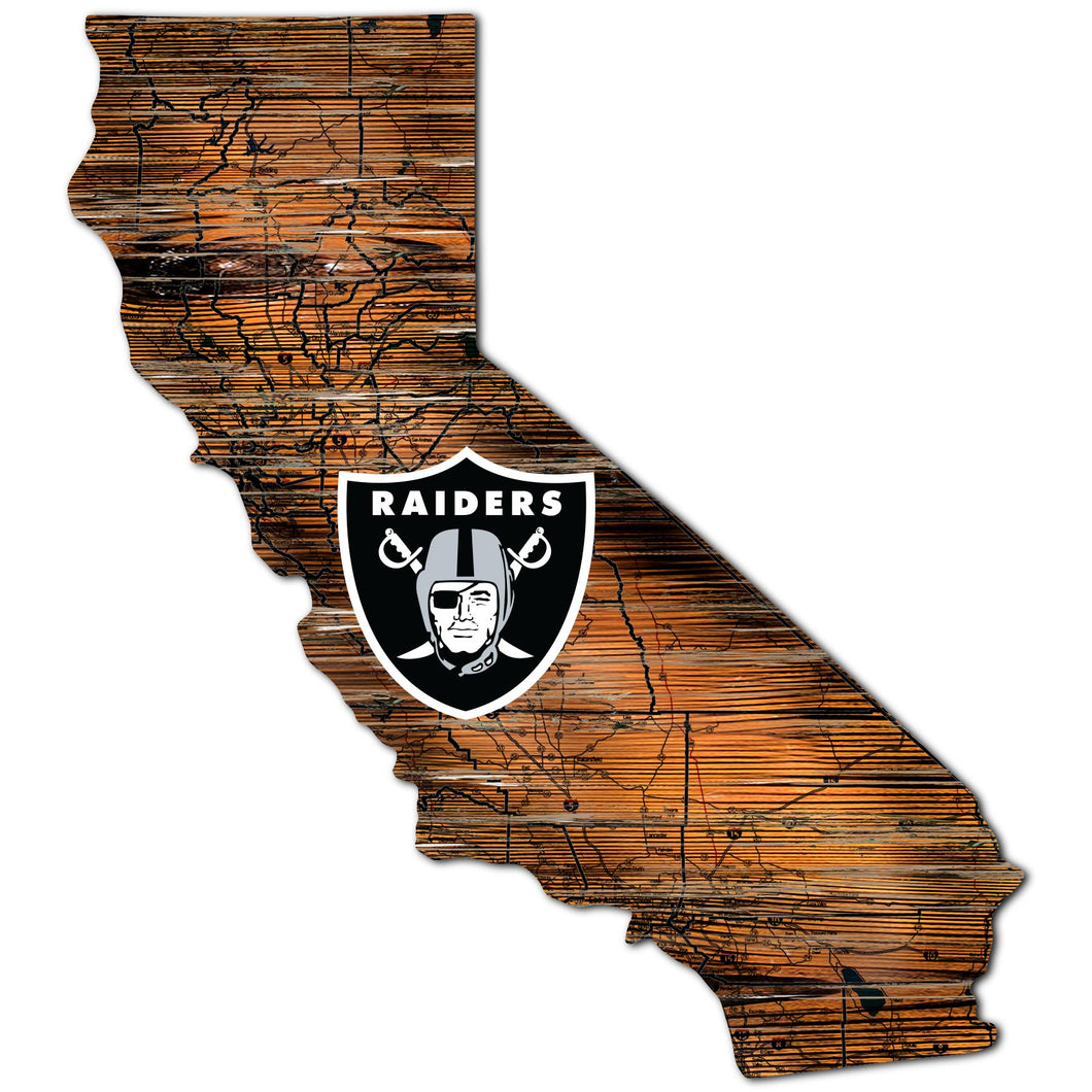 Oakland Raiders Distressed State with Logo