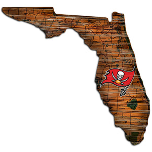 Tampa Bay Buccaneers Distressed State with Logo