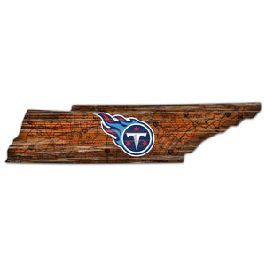 Tennessee Titans Distressed State with Logo