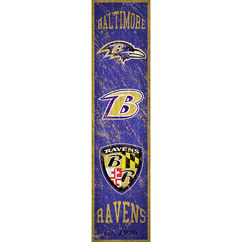 Baltimore Ravens Heritage Banner Vertical 6x24 Sign