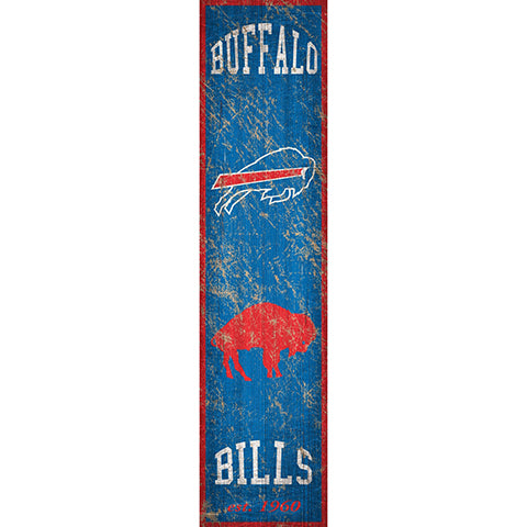 Buffalo Bills Heritage Banner Vertical 6x24 Sign