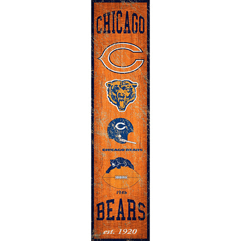Chicago Bears Heritage Banner Vertical 6x24