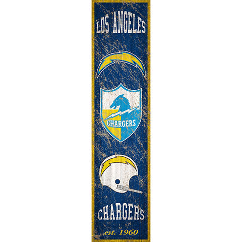 Los Angeles Chargers Heritage Banner Vertical 6x24