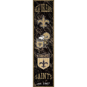 New Orleans Saints Heritage Banner Vertical 6x24