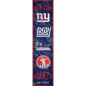 New York Giants Heritage Banner Vertical 6x24