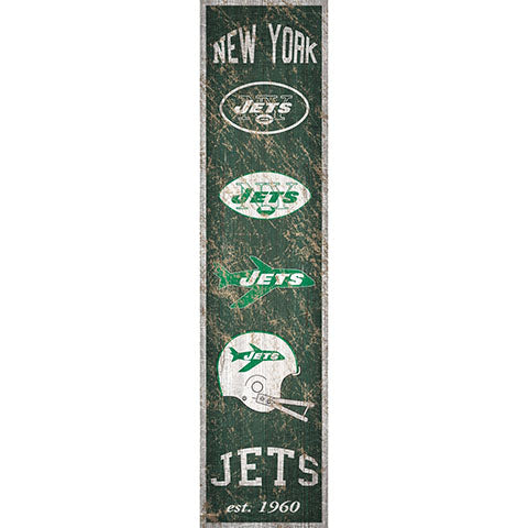 New York Jets Heritage Banner Vertical 6x24