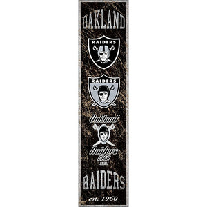 Oakland Raiders Heritage Banner Vertical 6x24